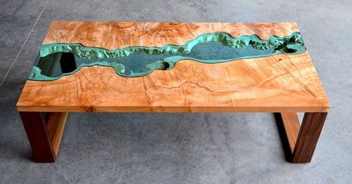 tischplatte selber bauen tisch aus harz und holz massivholzmöbel außergewöhnlich