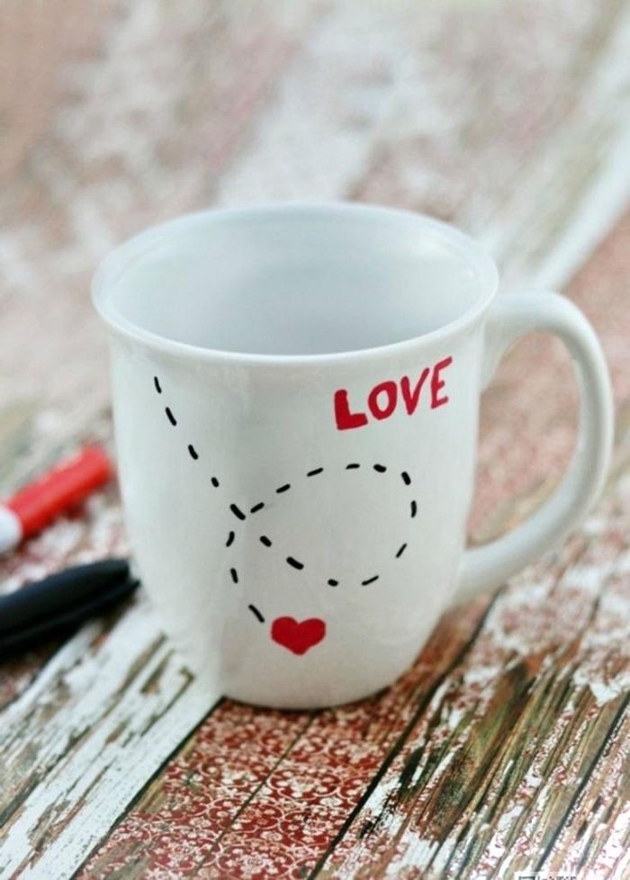valentinsgeschenk für männer valentinstag geschenk für freund geschenke für valentinstag weiße tasse mit zeichnung selber machen