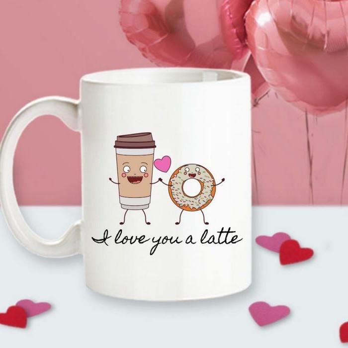 valentinsgeschenk für männer valentinstag ideen schön valentinstag valentinstag geschenke für männer selber machen tasse mit überschrift donut kaffee