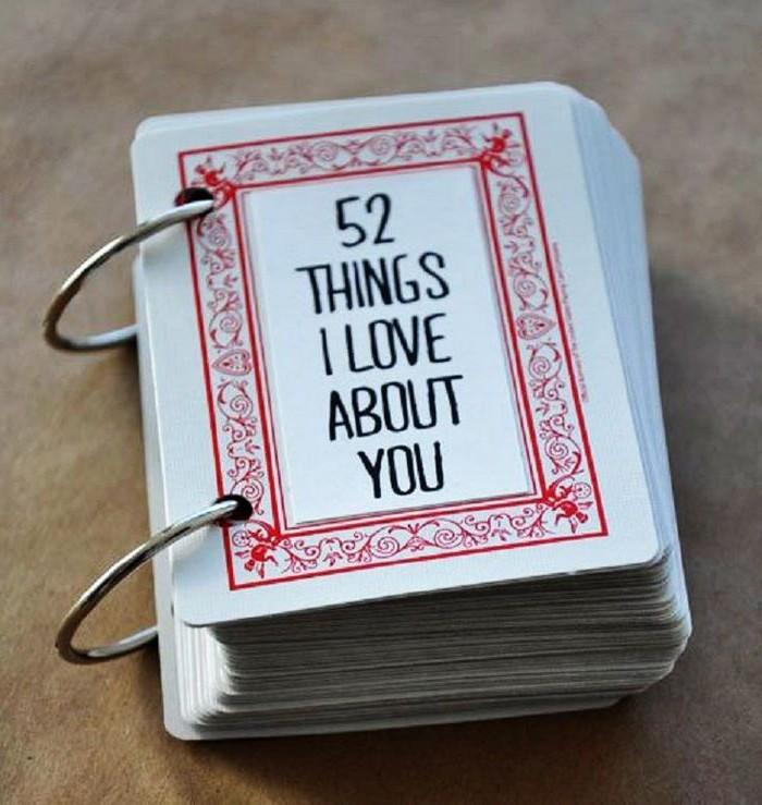 valentinstag geschenk mann schön valentinstag liebesgeschenke selber machen valentinsgeschenk für ihn spielkarten 52 sachen die ich liebe