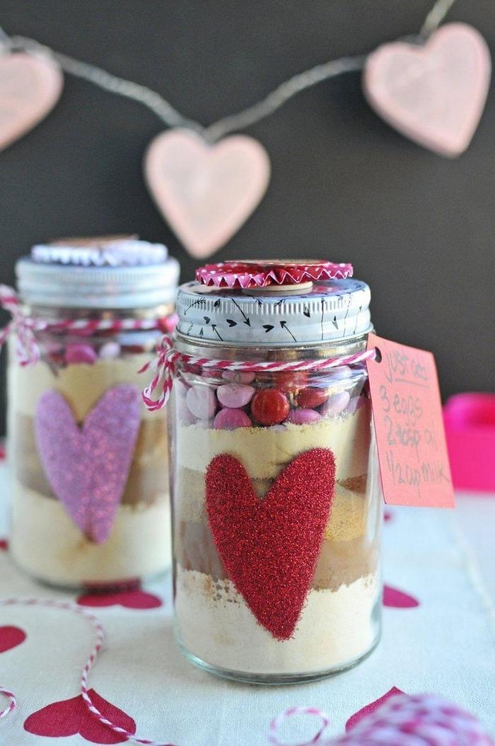 valentinstag geschenke selber machen valentinstag geschenk mann valentinstag geschenke für freund schön valentinstag glas mit kuchen mischung valentinstag idee