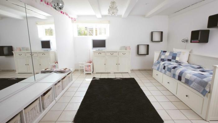 was ist souterrain kellerwohnung einrichten bodenbelag auswählen keramikfliesen souterrainwohnung nachteile wohnzimmer mit fliesen