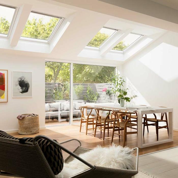 wohnung mit terrasse dachfenster austauschen kosten großer esstisch mit stühlen aus holz scandi style einrichtung