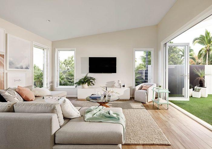 wohnzimmer decke gestalten zimmereinrichtung in weiß gestalten wohnzimmergestaltungsideen wohnung einrichten
