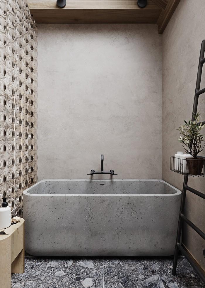 anderes wort für.puristisch wabi sabi wohnen wabi sabi japanische einrichtung badezimmer japanischer einrichtungsstil betonvanne steinwände in grau marmorboden