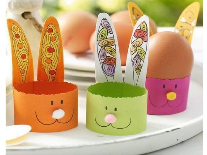 basteln ostern kinder osterdeko basteln ostern kinder eierkörbchen hase aus papier basteln ostern kinder 3 jahre