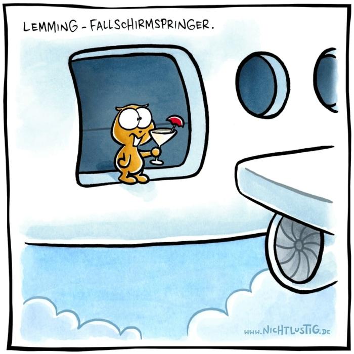 comic bild eichhörnchen mit cocktail springt aus einem flugzeug lustige bilder kostenlos zum totlachen