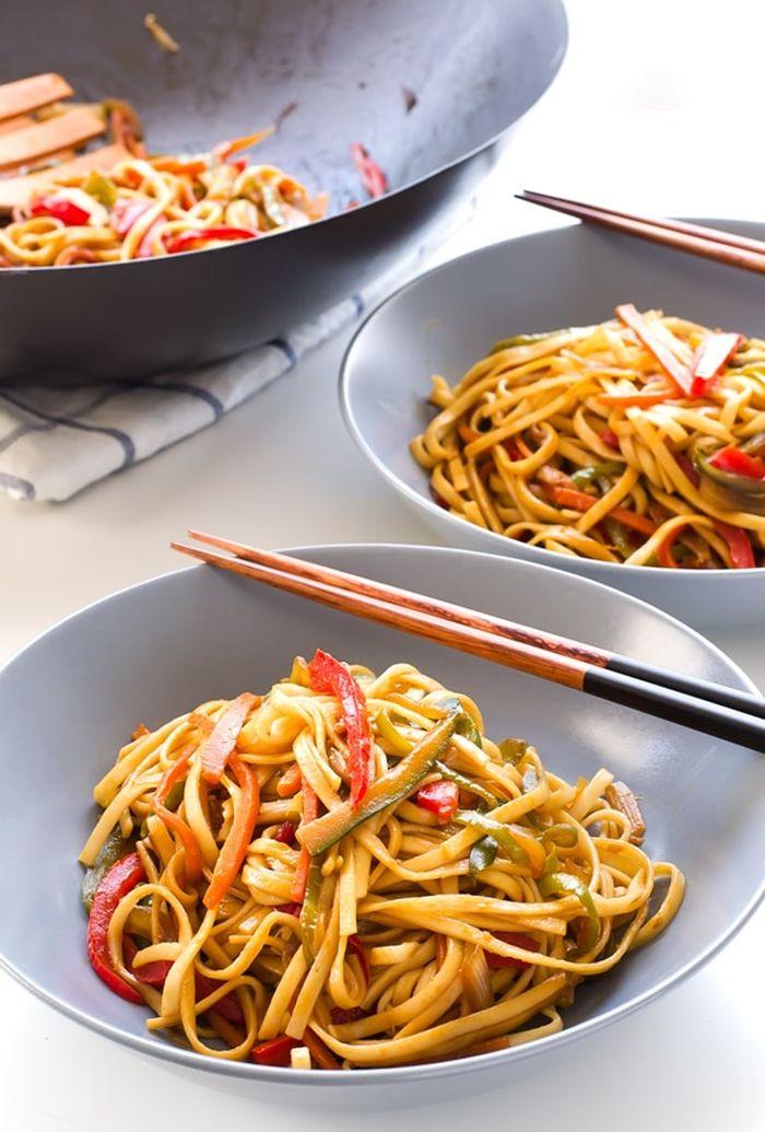 gerichte mit nudeln vegane rezepte pasta mit gemüse vegetarisch schnell