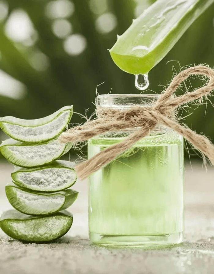 hautpflege kleine flasche mit aloe vera gel haare selber machen rezepte