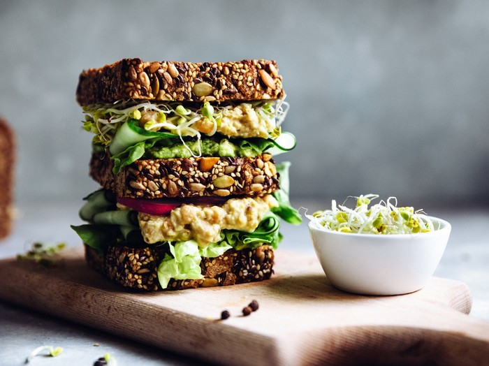 hcg brot stoffwechselkur lebensmittel rezepte stoffwechselkur hcg diät rezepte sandwich mit gemüsen und reisnoodeln