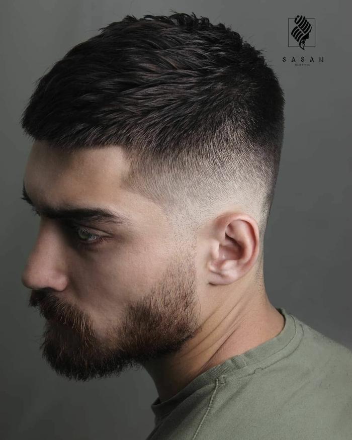 herrenfrisuren ideen undercut männerfrisuren mit bart kurz moderen frisuren für männer