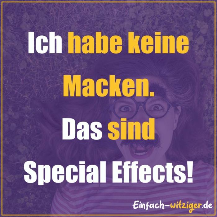 ich habe keine macken das sind special effects lustige bilder sprüche totlachen witzig frau mit brillen