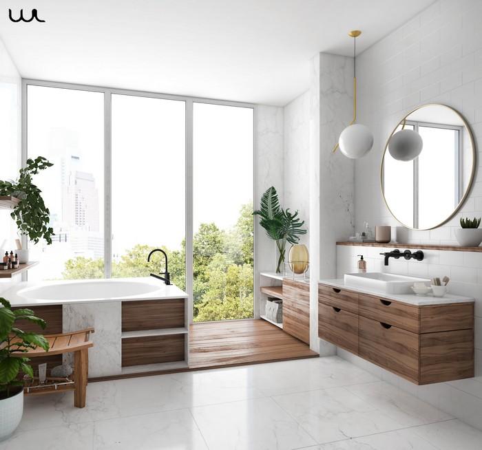 japanische einrichtung wabi sabi interior japanische wohnung badezimmer wabi sabi anderes wort für puristisch wanne keramik holz großes fenster