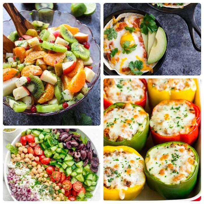 louwen diät rezepte und ideen gesund essen in der schwangerschaft salat gefüllte paprika