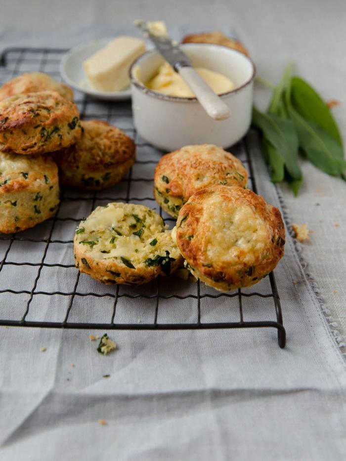 messer und butter grüne blätter retepte bärlauch kleine bärlauch muffins