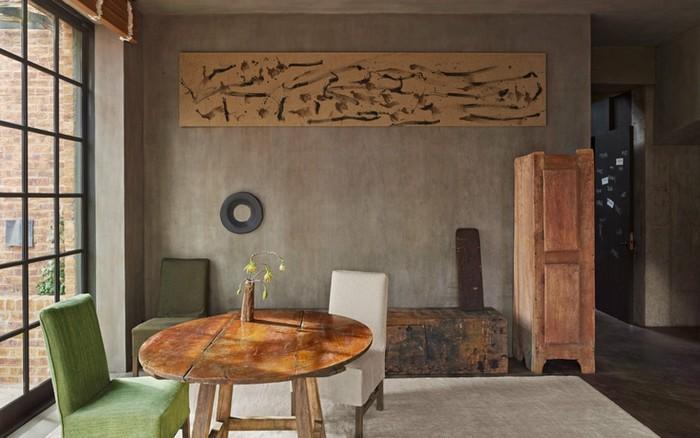 moderne japanische wohnung anderes wort für puristisch wabi sabi wohnen wabi sabi interior wohnzimmer japanischer stil holzmöbel teetisch zwei stühle polsterung weiß grün