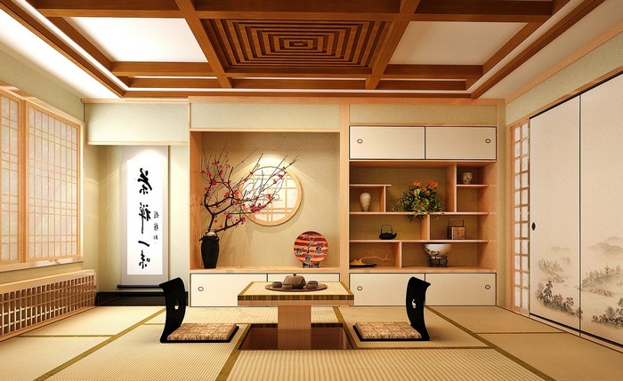 moderne japanische wohnung wabi sabi japanische einrichtung wabi sabi interior möbel aus hellem holz minimalismus