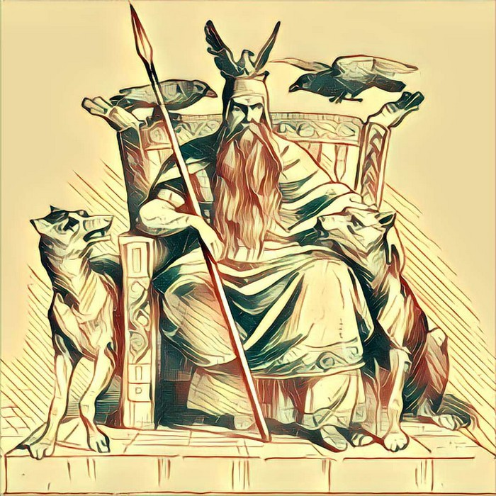 odin gott odal rune tattoo wikinger nordische symbole nordische mythologie tattoo odal throme raben