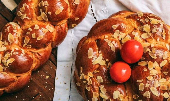 ostergerichte rezepte ostern osterrezepte backen tsoureki griechisches osterbrot