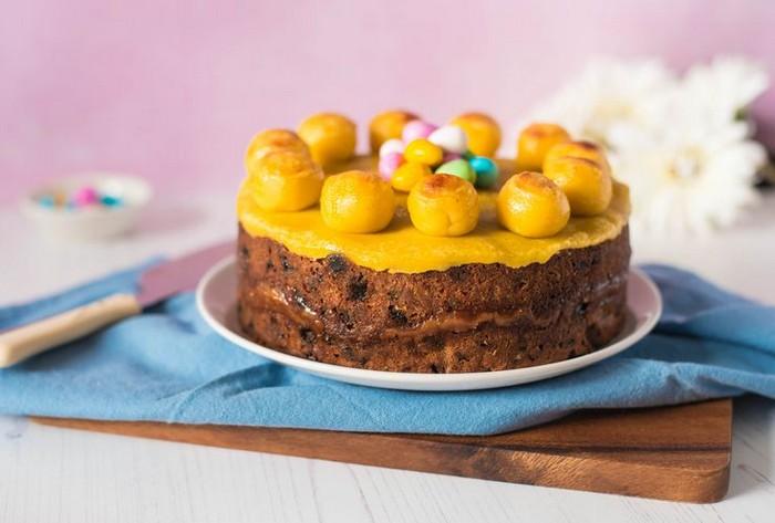 ostern rezepte osteressen nachtisch ostern simnel cake marzipankuchen england