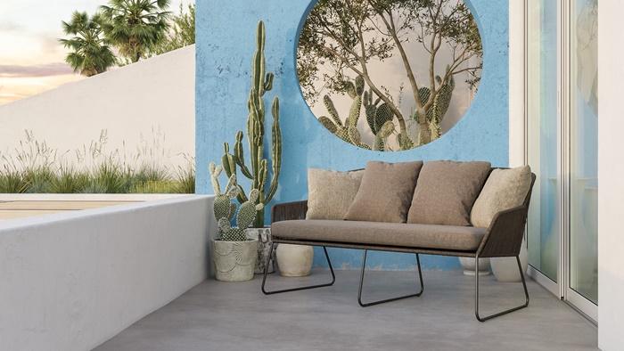 outdoor bereich gestalten ideen longue möbel graues sofa außenbereich einrichten