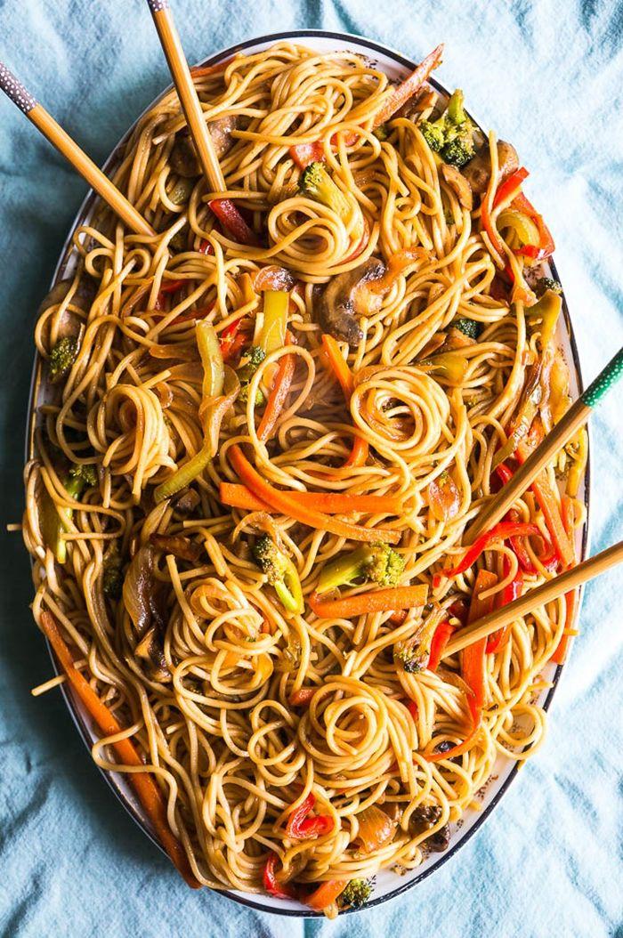 pasta & nudeln lo main mit garnelen was koche ich heute mittag essen für gäste