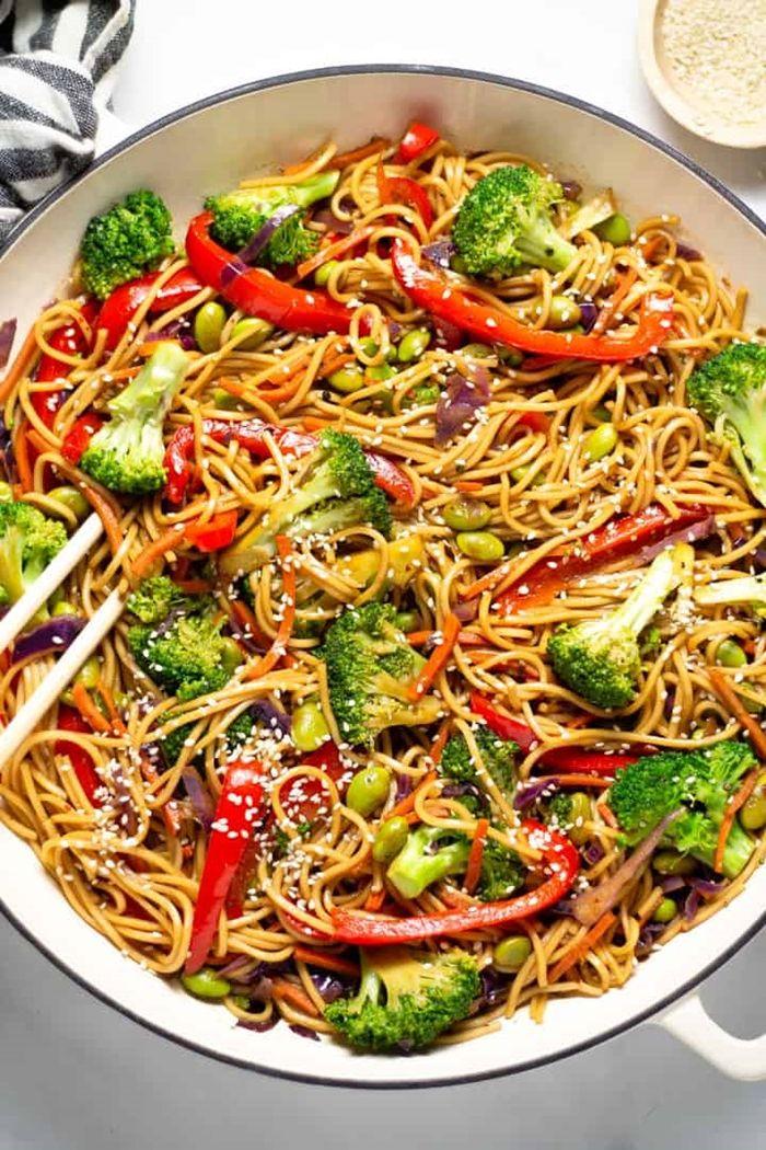 rezepte mit nudeln einfach und schnell abendessen ideen pasta mit gemüse