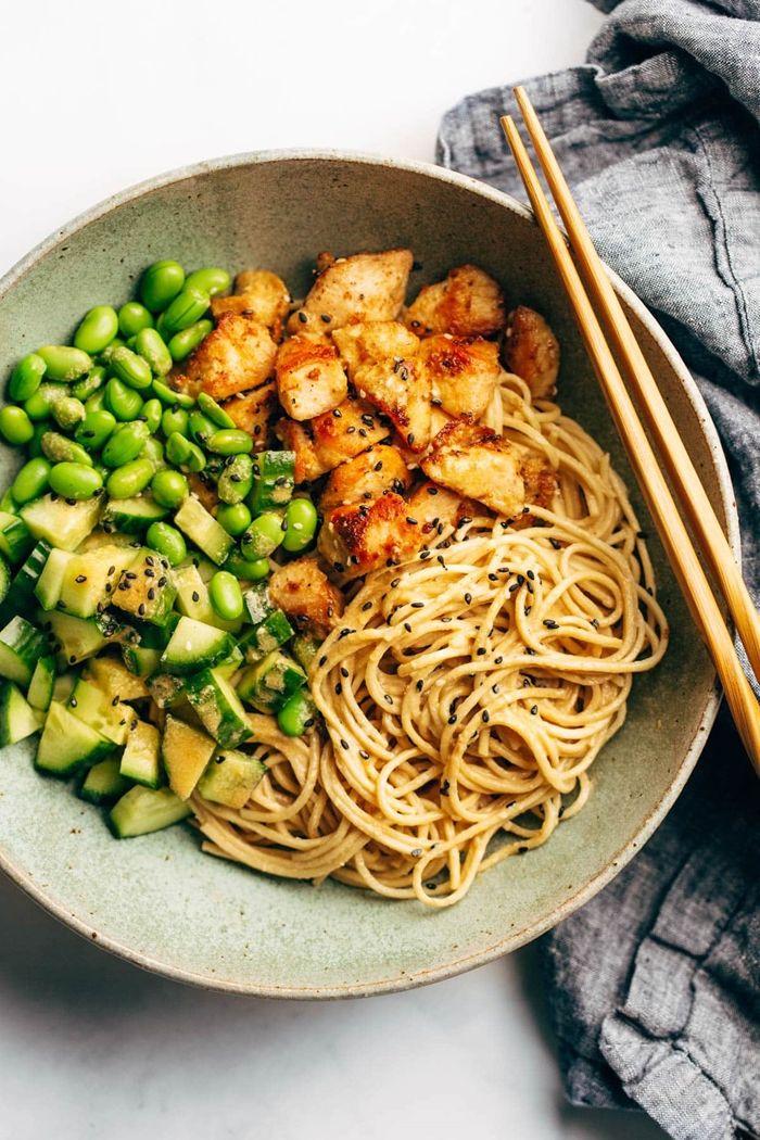 rezepte mit nudeln leckeres abednessen pasta mit tofu einfache zubereitung