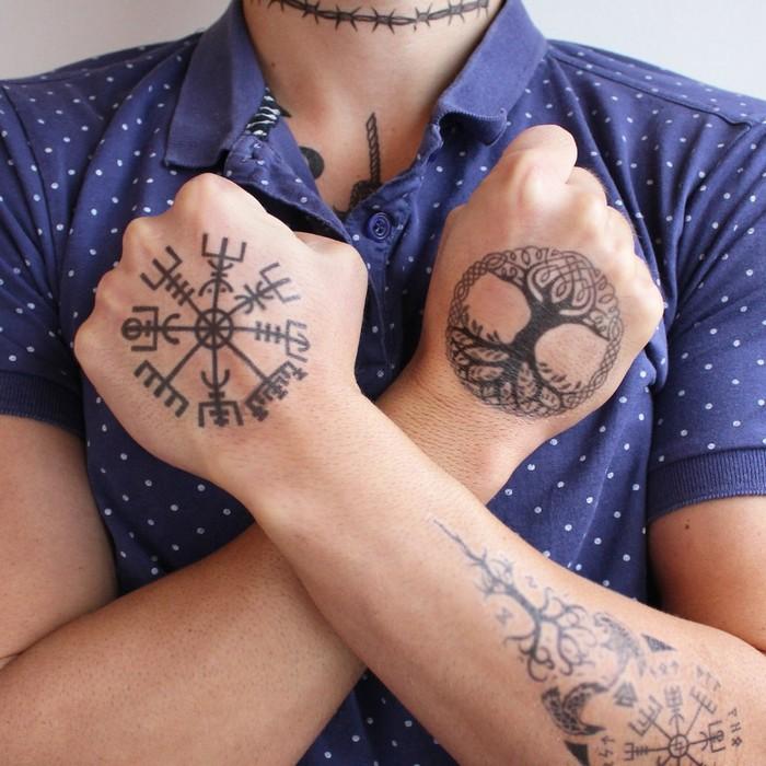 runuen symbole wikinger tattoo nordische mythologie tattoo runen tattoo verboten helm von awe lebensbaum