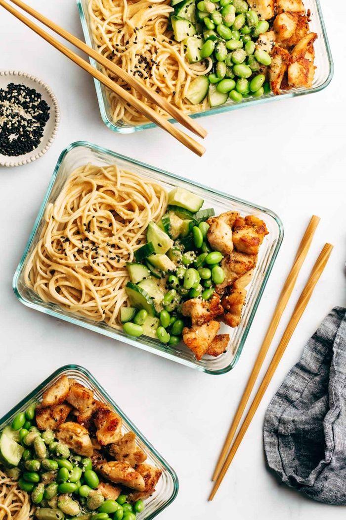 schnelle pasta rezepte gesundes mittagessen für jeden tag nudeln mit gemsüse und tofu