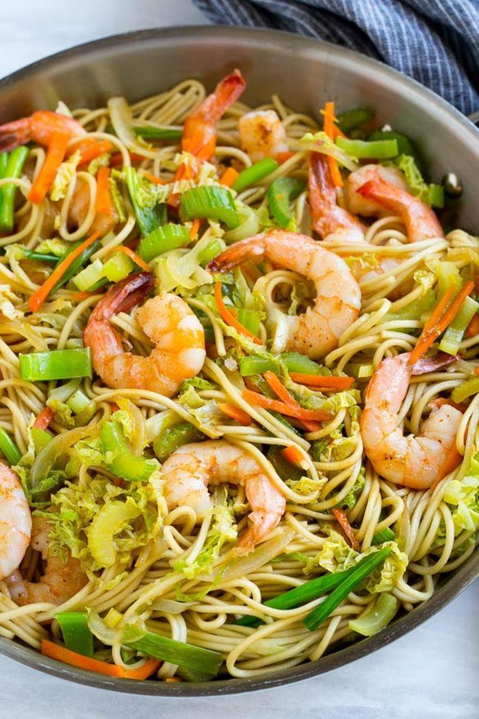 schnelle pasta rezepte zudeln mit garnelen low carb noodles selber machen