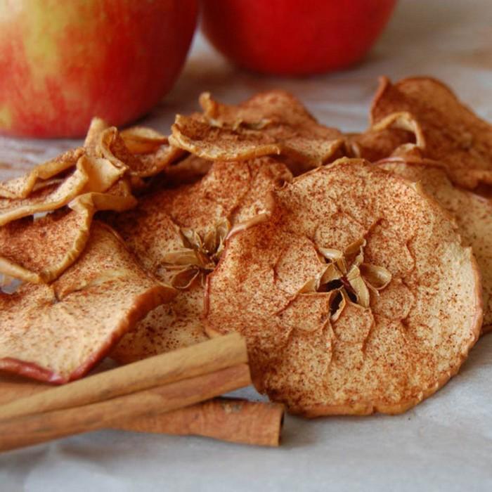 stoffwechselkur lebensmittel hcg diätplan rezepte hcg brot apfel chips selber zubereiten zimt