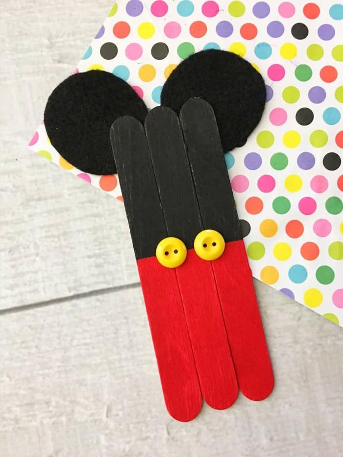 9 mickey mouse dekoration diy deko selber machen schritt für schritt anleitung eisstiele holz basteln inspo ideen