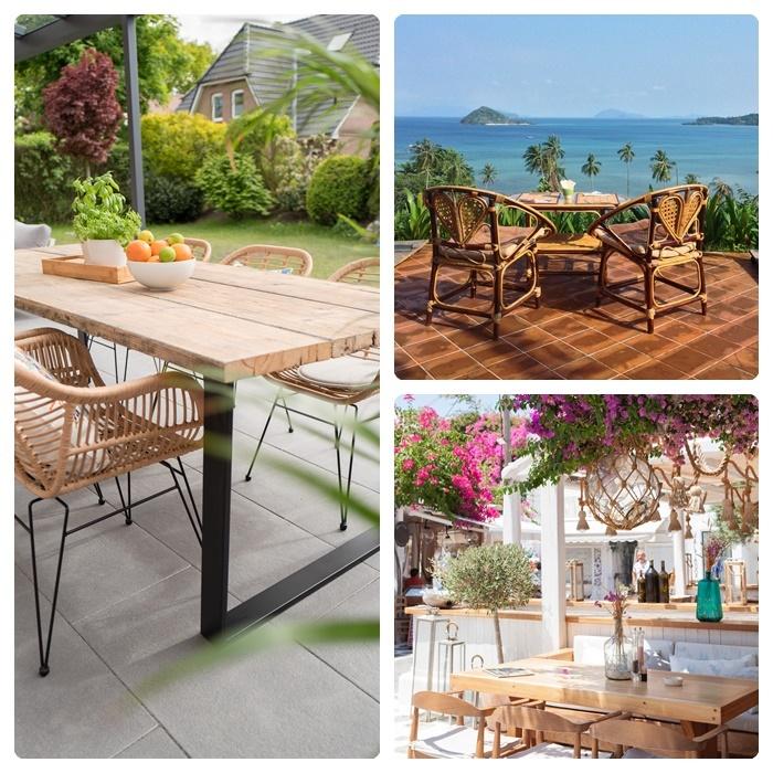 balkon & gartentisch gartenmöbel designs materialien kauftipps auswahltipps außenmöbel aus holz holztisch
