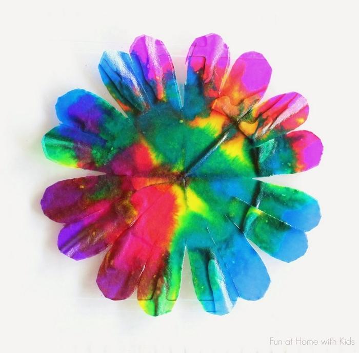basteln für muttertag jurzfristige geschenke selber machen muttertagsgeschenke diy blumen aus papier basteln mit kaffeefilter anleitung schritt für schritt