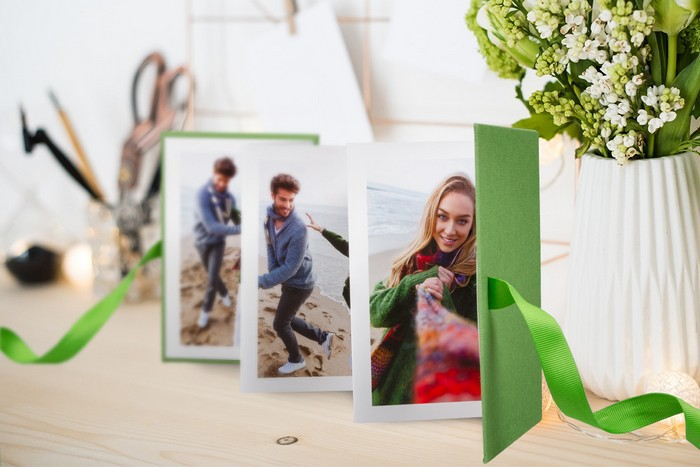 basteln für muttertag muttertagsgeschenk diy schöne muttertagsgeschenke leporello fotoalbum selber machen fotos auswählen