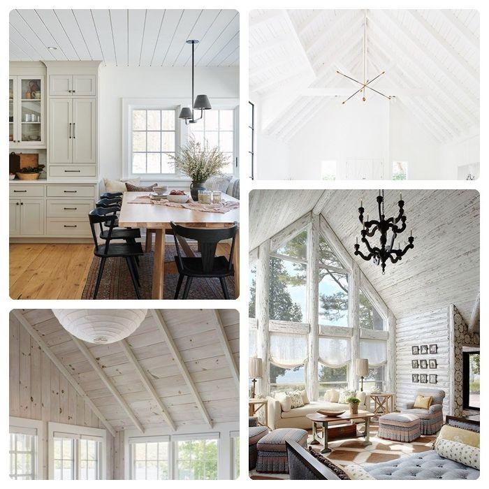 deckenpaneele streichen decke weiß färben zimmer dekorieren einrichtungsideen skandi style