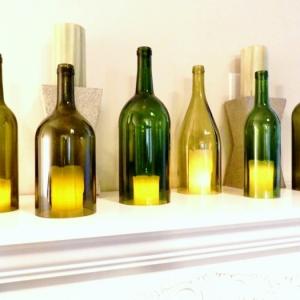 diy projekte grüne flaschen kerzenhalter flaschen schneiden resized