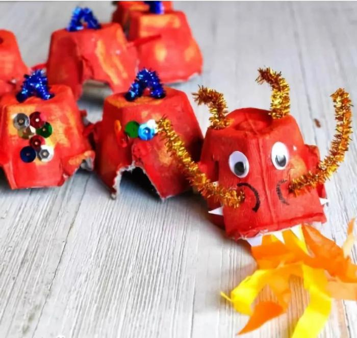 drache basteln aus eierkarton kreative bastelideen inspiration für kinder bastelideen inspo ideen