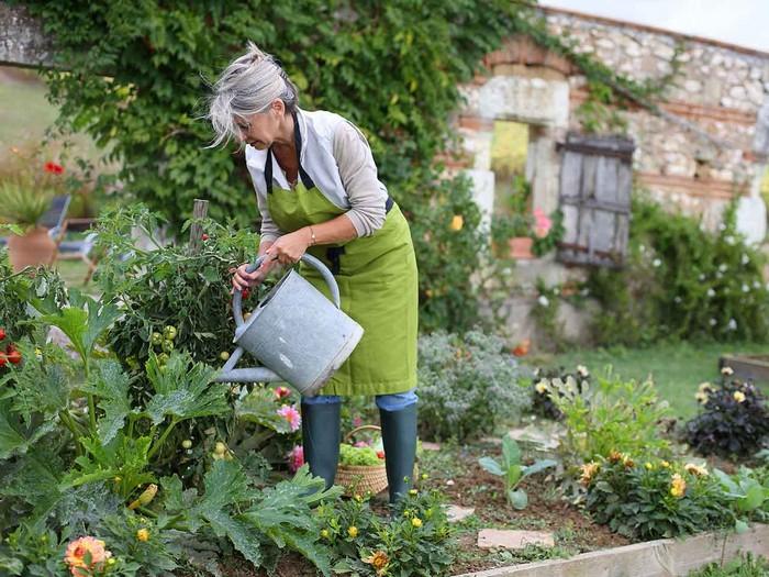 geschenk 60 geburtstag frau lustige geschenke geschenke zum 60 geburtstag frau alte frau im garten pflanzen gießen