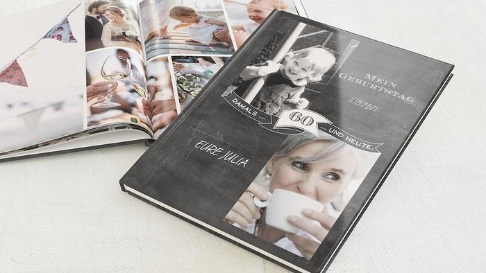 geschenke zum 60 geburtstag frau geschenke zum 60 60 geburtstag frau originelle geschenke zum 60 geburtstag fotobuch mit schwarzem buchdeckel foto alter frau baby