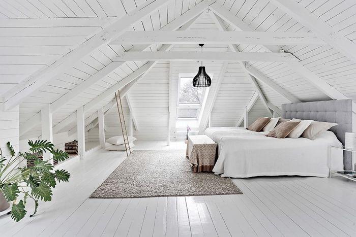 holzdecke weiß schlafzimmergestaltung ideen schlafzimmer einrichten und dekorieren skandi einrichtung