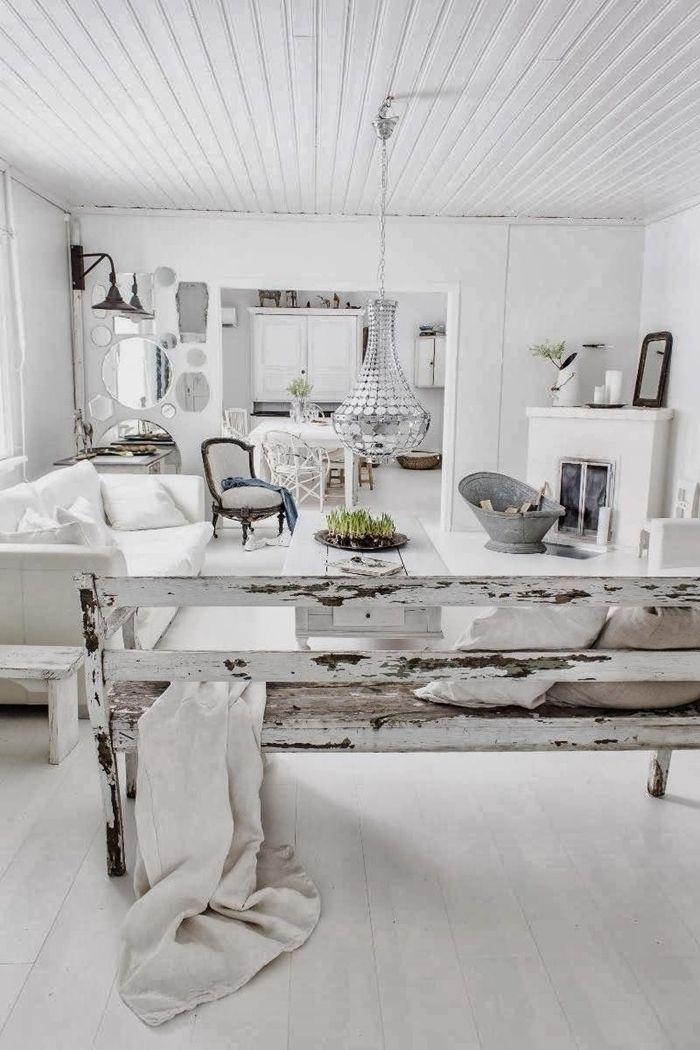 holzdecke weiß steichen einrichtungsideen einrichtung in weiß wohnzimmer gestalten wohnzimmergestaltung
