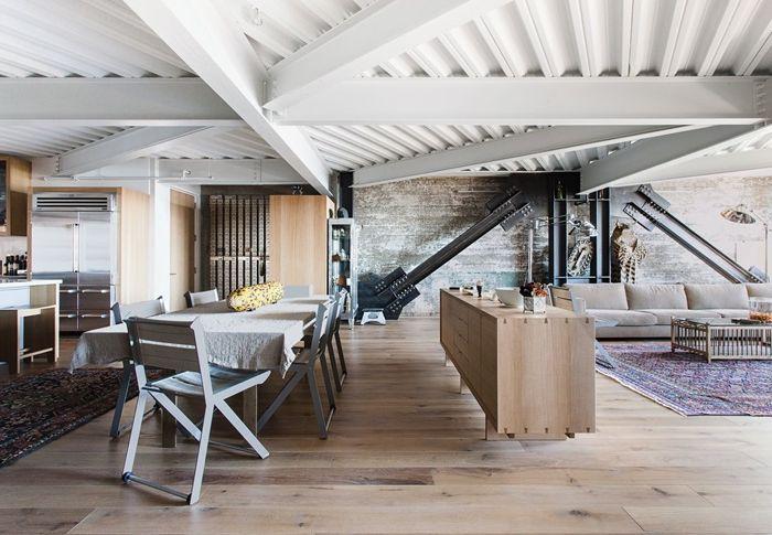 holzpaneele streichen holzdielen weiß färben wohnzimmer und kpche in einem zimmer gestalten zimmerdeko decke