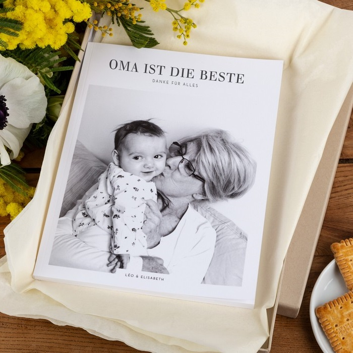 lustige geschenke zum 60 geburtstag ideen zum 60 geburtstag 60 geburtstag mama fotoalbum für die oma buchdeckel foto oma mit baby