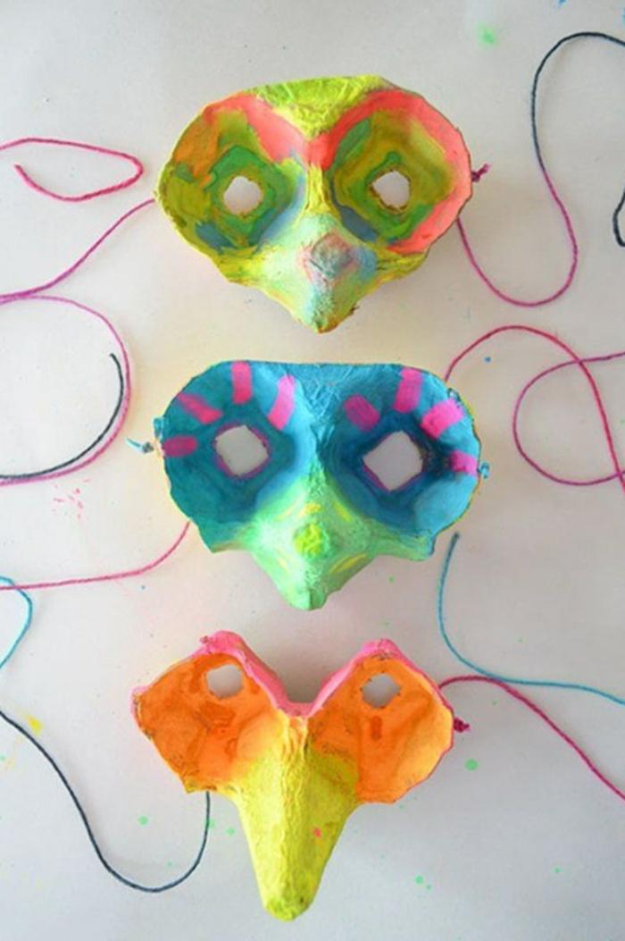 masken karneval selber machen basteln mit eierkarton inspierierende ideen kreative bastelideen