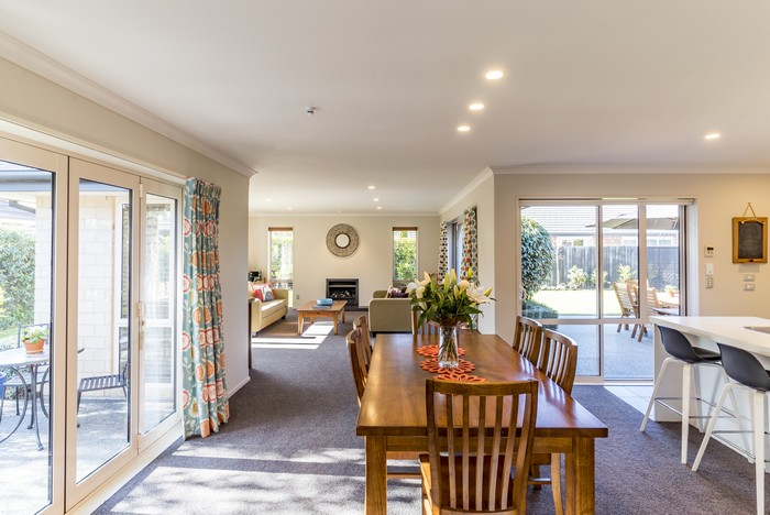 interior with a bid dining room of a modern private house