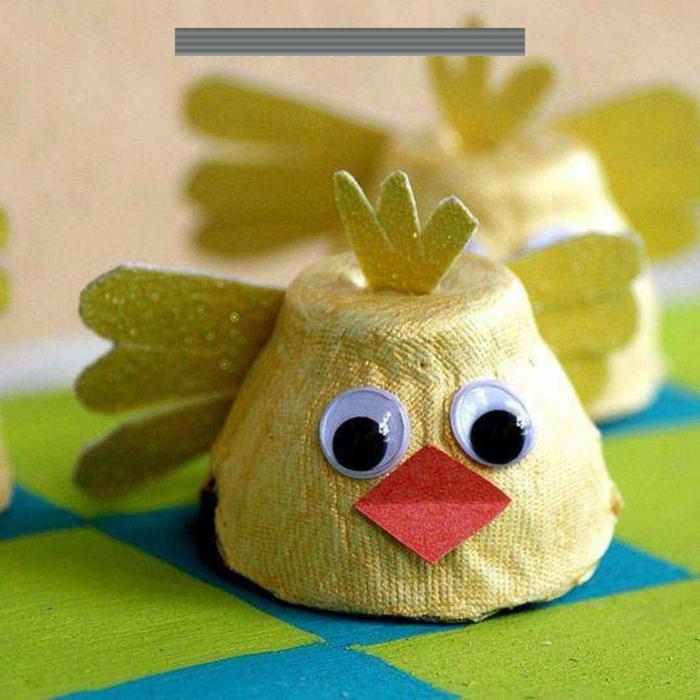 osternasteln mit eierkartons küken aus eierpappe osterdeko selber machen leichte und kreative bastelideen