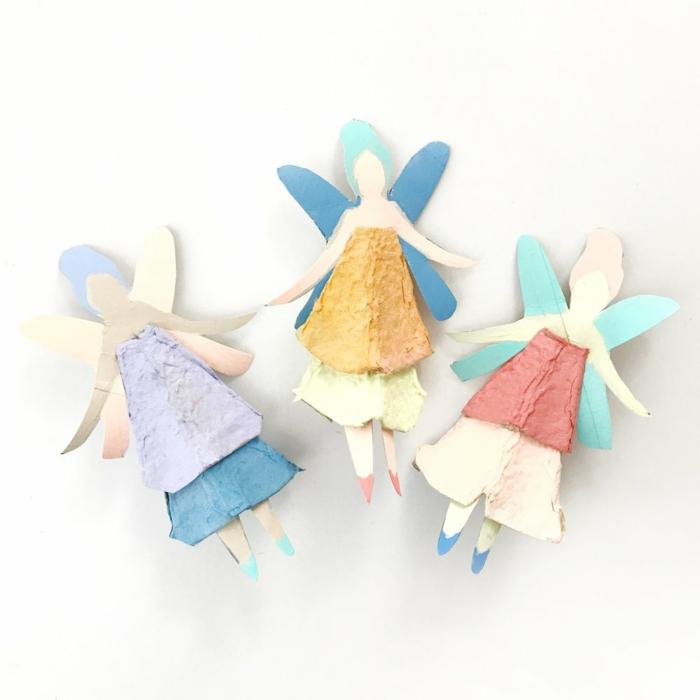 schöne engel ais eierpappen selber machen minimalistische dekoration kinderzimmer basteln mit kindern inspo