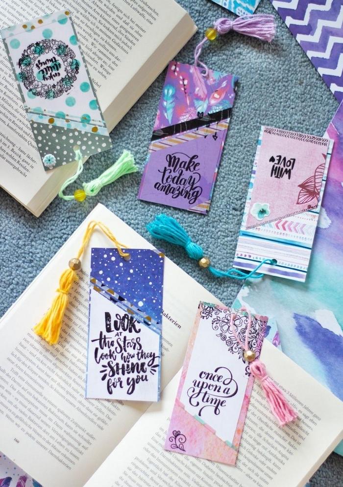 schöne muttertagsgeschenke muttertagsgeschenk selbstgemacht kinder buch lesezeichen selber machen muttertagsgeschenk diy